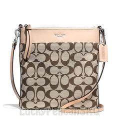 COACH 51055 LEGACY NS Swingpack Messenger Crossbody Signature Khaki Madeira  NWT #Coach #MessengerCrossBody