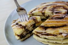 Cinnamon Roll Pankcakes