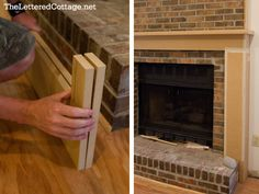 Fireplace Makeover | The Lettered Cottage. Amazing build of an MDF fireplace surround. http://theletteredcottage.net/fireplace-makeover/