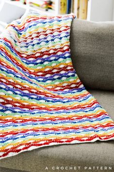 Learn How To Make the Wavy Shell Stitch With This Blanket Pattern! Baby Blanket Size, Blanket Sizes, Caron Simply Soft, Last Stitch, Lavender Blue, Rainbow Baby, Rainbow Colors, Losing A Child, Afghan Crochet Patterns