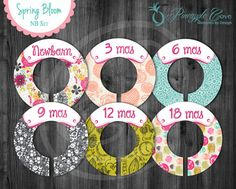 Cute Baby Girl Closet Dividers to Organize Clothing for Baby Room | Spring floral design
