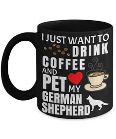 Funny German Shepherd Mugs for dog lovers Gifts For Dog Owners, Dog Lover Gifts, Dog Gifts, Dog Lovers, Black German Shepherd Puppies, Long Haired German Shepherd, German Shepherds, Cute Pugs, Puppies For Sale