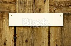 Door Sign Horizontal Royalty Free Stock Photo