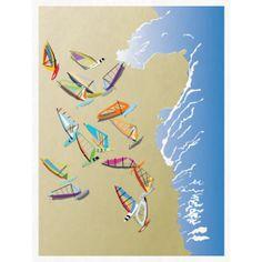 Windsurfers on the beach Illustration Mui Ne, Beach Illustration, Magic Art, Cool Artwork, Surfing, Art Gallery, Graphic Design, How To Plan, Fun