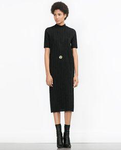 PLEATED DRESS-View all-Dresses-WOMAN | ZARA Iceland