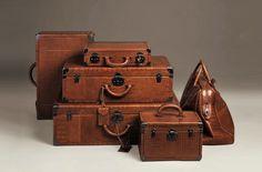 Bottega Veneta Six-Piece Alligator Luggage Set