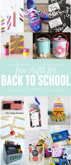 Fun and easy ideas for back to school crafts. Get creative with your kids for fun school ideas, or teacher appreciation gifts.