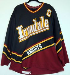 3b963df9c7e Irondale Knights CCM game worn high school hockey jersey black  1 Minnesota