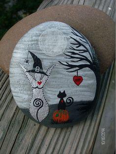 Made-to-Order Samhain/Halloween Moon Goddess Altar Stone