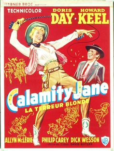 "2/17/14 5:36p     Warner Bros Pictures   ""Calamity Jane""  Doris Day Howard Keel 1953  Foreign  Poster"