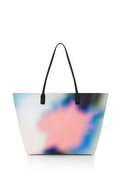 Anytime Tote - Make this printed tote your new take-everywhere bag. Long straps make it easy to carry; an interior pocket limits fishing for your small essentials. Tote Purse, Tote Handbags, Purses And Handbags, Tote Bags, White Tote Bag, White Handbag, Bags 2015, Work Tote, Beautiful Handbags