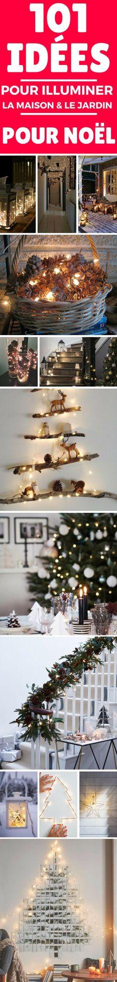 Cliquez sur cette épingle et laissez vous inspirer pour + de 101 idées pour illuminer votre maison et votre jardin pour Noël. Les plus belles idées lumineuses pour Noël !