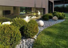 progettazione giardino pavimentazione in ghiaia