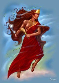 I've never seen her rendered this way. Very lovely. Oya Goddess, Goddess Warrior, Warrior Queen, Goddess Art, Oya Orisha, Tarot, African Goddess, Butterfly Cross Stitch, Black Love Art