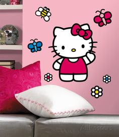 Hello Kitty-The World of Hello Kitty Peel & Stick Giant Wall Decals Wall Decal at AllPosters.com