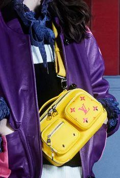 Fashion Bags, Fashion Backpack, Fashion Show, Types Of Bag, Purple Fashion, Big Bags, Backpack Purse, Purple Yellow, Bag Making