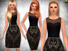 Sims  Addictions: Brocade And Leather Outfit