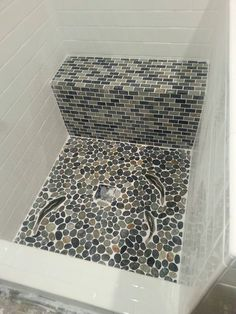 Decorative Ceramic Tile Custom Hand Made Find This Pin And More On Bathroom Pebble Stone Ideas