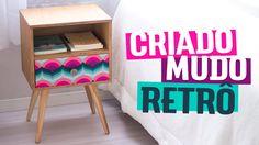 CRIADO-MUDO RETRÔ (com Gaveta) | Diycore