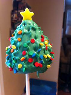 Christmas Tree Cakepops