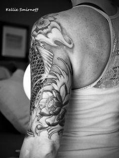 Koi Dragon Tattoo - half sleeve