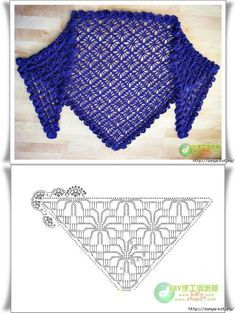 MES FAVORIS TRICOT-CROCHET: 18 grilles de châles au crochet