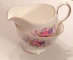 Queen Anne Miranda creamer and sugar bowl