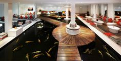 Chill out in the beautiful Koi Lounge in the Spa in Covent garden, London