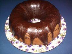Old Fashioned Chocolate Pound Cake with Fudge Glaze