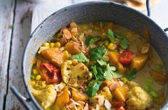 Slow-cooked squash and sweetcorn korma - 20 simple one-pot dinners