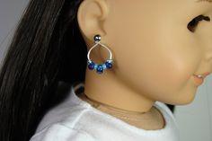 American Girl Ocean Blue Beaded Hoop Earring by 2SistersSewCrafty, $4.00
