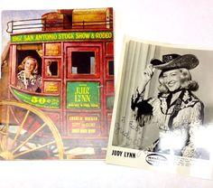 1967 San Antonio Stock Show & Rodeo Program With Judy Lynn Autographed Photo