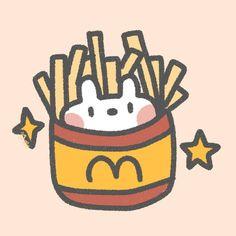 Kawaii Doodles, Cute Doodles, Kawaii Art, Kawaii Anime, Cute Food Drawings, Easy Drawings, Kawaii Wallpaper, Cartoon Wallpaper, Cute Stickers