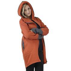Women's Hoodie, Warm Hoodie, Tunic, Cotton Coat, Asymmetrical Hoodie, Hooded Coat, Handmade, Orange Hoodie by clothesNavaho on Etsy