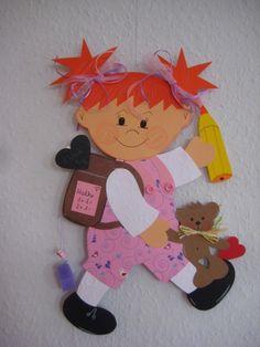 Risultati immagini per Schule Dekoration Frühling Diy Paper, Paper Crafts, Diy And Crafts, Crafts For Kids, Crazy Girls, Decorative Tile, Valentine Crafts, Back To School, Origami