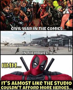 This is Deadpool being Deadpool. Hmm just like his comment in the movie!