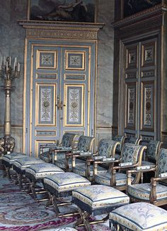 Château de Compiègne - the position and model of chair signified the rank of the guest