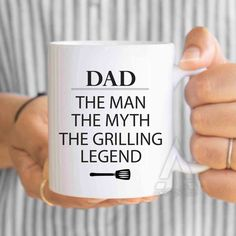 Items Similar To Fathers Day Grilling Dad The Man Myth Legend Coffee Mug Gift From Son Gifts MU167