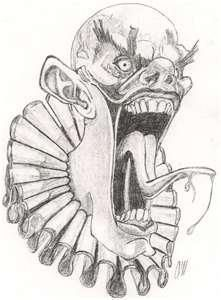 evil clown by cagedspirit traditional art drawings fantasy 2006 2015 - Pictures Of Halloween Drawings