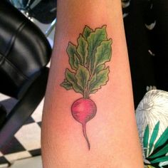 Colored Radish tattoo design