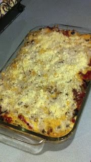 Baked spaghetti- Trisha Yearwood recipe