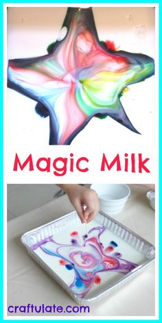 Magic Milk - a fun science activity from Craftulate
