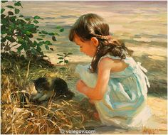 Volegov.com :: NEAR FOUNTAIN, painting,