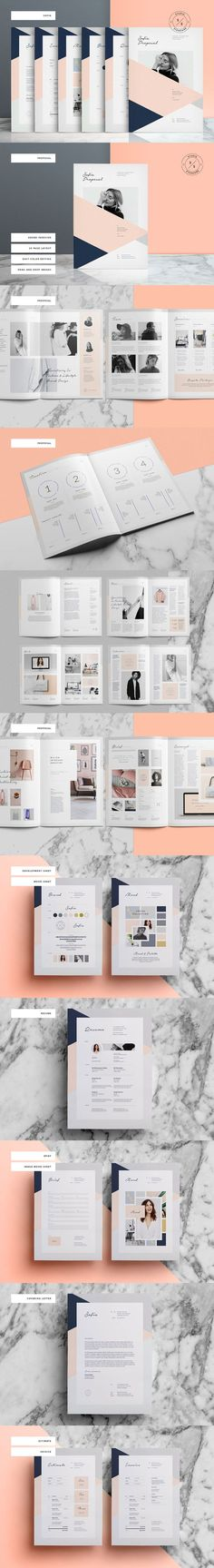 Brochure / Magazine Template on CreativeMarket, A4, A5: