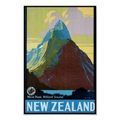 Vintage New Zealand Travel Posters