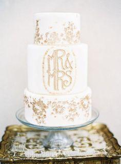 Or Flocons de gâteau de mariage