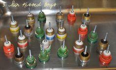 Creative Kitchen Hardware Idea; Using Old Fuses - Remodelaholic