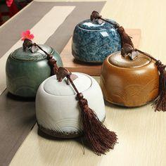 850 ML tanque de almacenamiento de té caddy recipiente de cerámica ollas de barro té(China (Mainland))