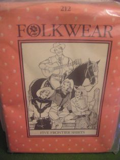 Pattern  Five Frontier Shirts Men Women Folkwear 212  Sewing Costume FF Uncut #Folkwear