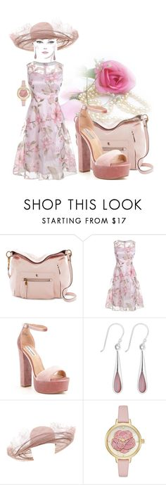 """Summer Dinner Date.."" by marlenajo-b ❤ liked on Polyvore featuring Elliott Lucca, Steve Madden, Simply Silver and WEAREJUSTGIRLS"